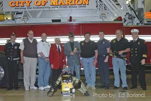 Local Organizations that have made donations to the fire dept., photo by: Ed Borland